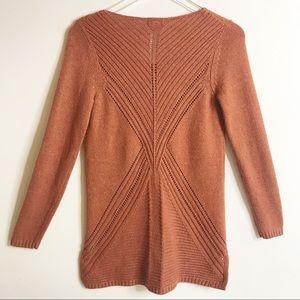 Merona Knit Sheen Sweater in Rust